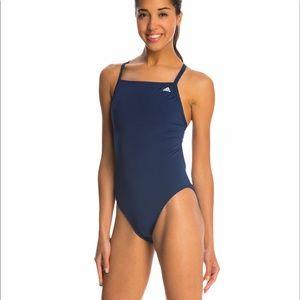 Adidas Solid Navy Infinitex Vortex Back Swimsuit